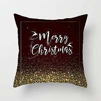 Декоративная подушка - Merry Christmas черное золото