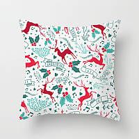 Декоративная подушка - Олени Merry Christmas