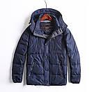 Стильная мужская демисезонная куртка фирменная GEOX, цвет темно синий, размер 52, фото 3