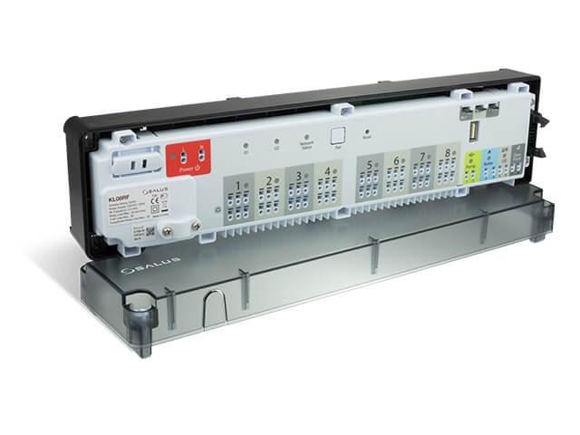 Центр коммутации на 8 зон Salus беспроводной с питанием 24 В  KL08RF 24V