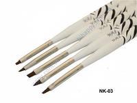Набор кистей для китайской росписи 5 шт. (белые)