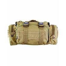 Сумка плечевая тактическая Milcraft  35×15×10 (см) Камуфлжный (расцветка TAN)