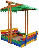 Песочница деревянная цветная SportBaby, фото 1