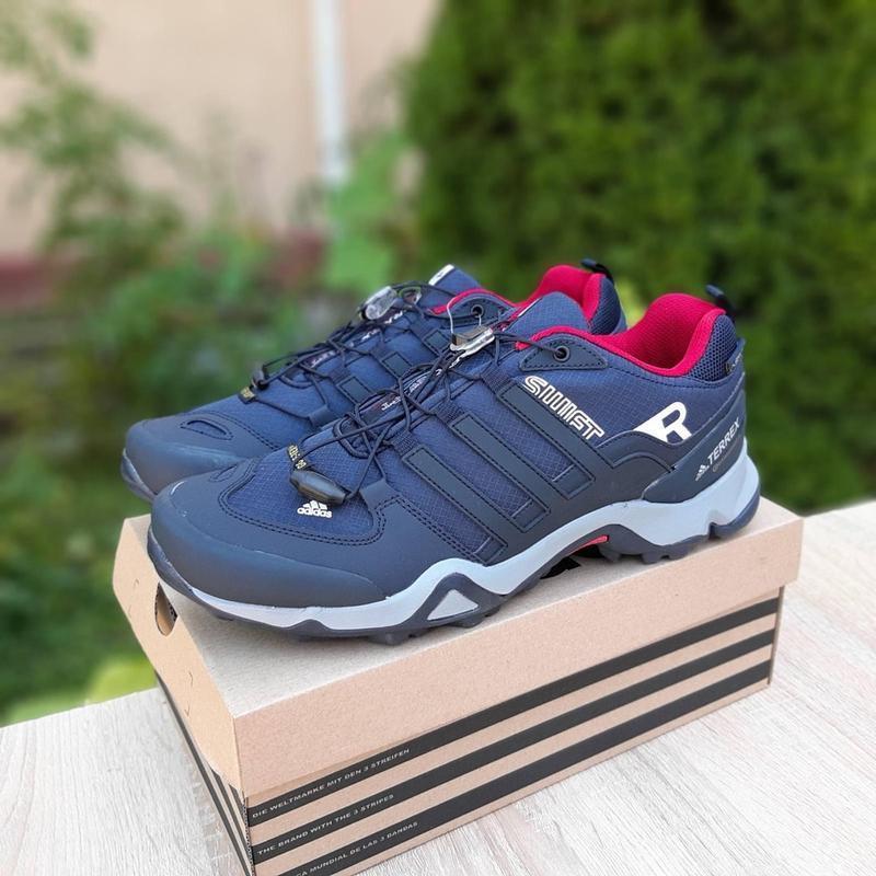 Мужские кроссовки термо Adiadas Terrex Swift r2 Blue Великаны