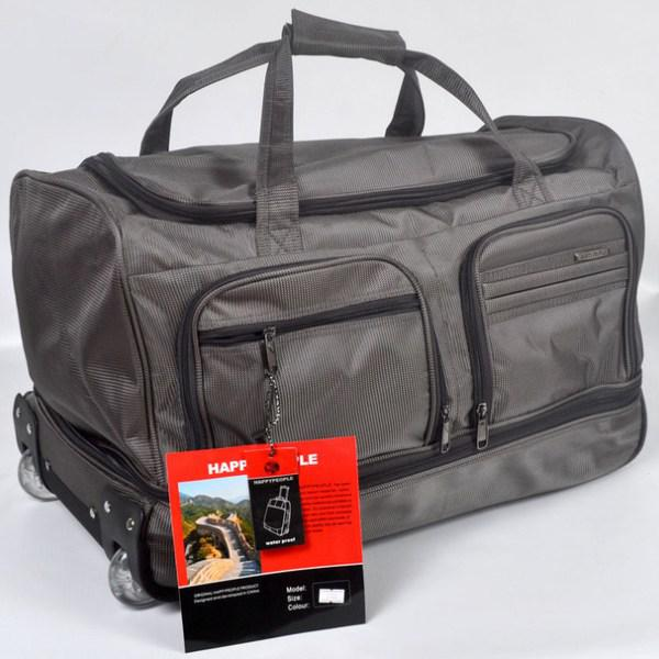 Дорожня сумка середня на колесах фірми Happy People 2732, сірий