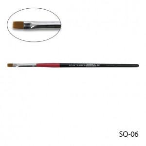 Кисть для гелевого моделирования (нейлон) SQ-06
