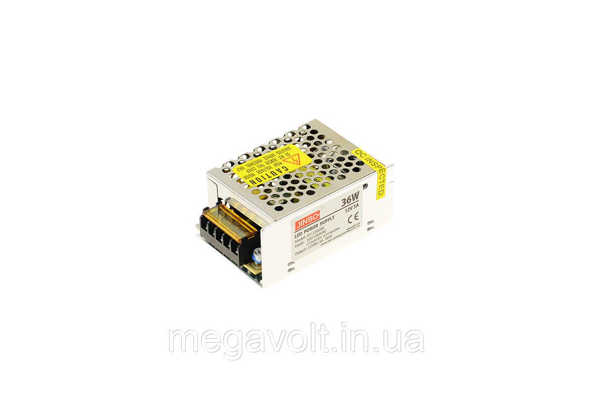 Блок питания 36W 12V негерметичный premium Jinbo