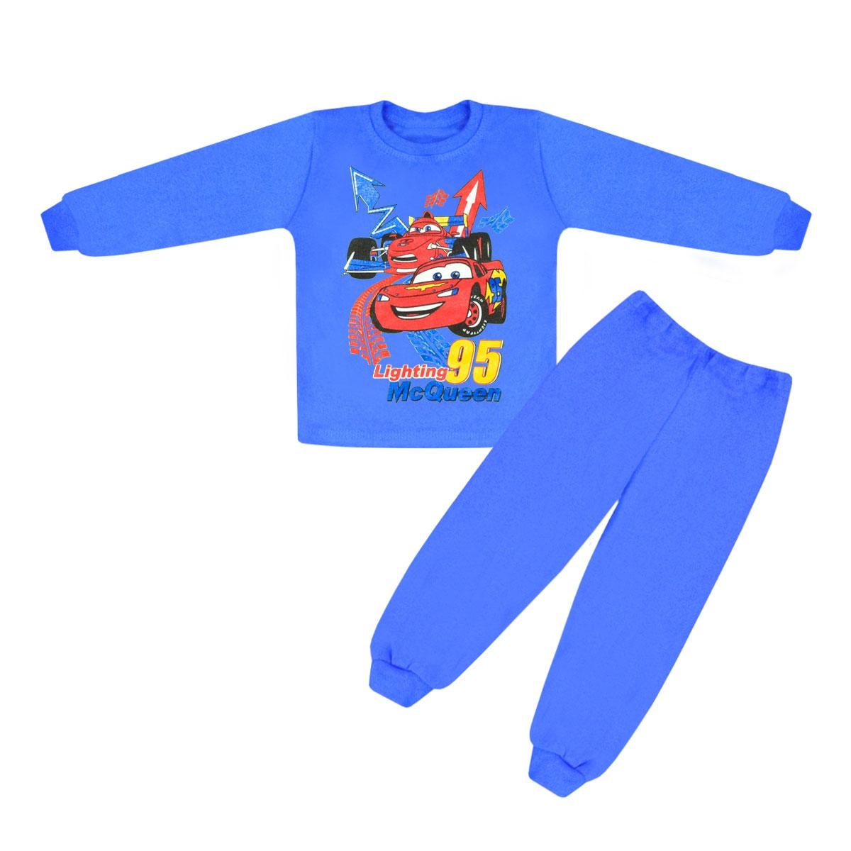 Пижама детская Тачки для мальчика на 2 года интерлок