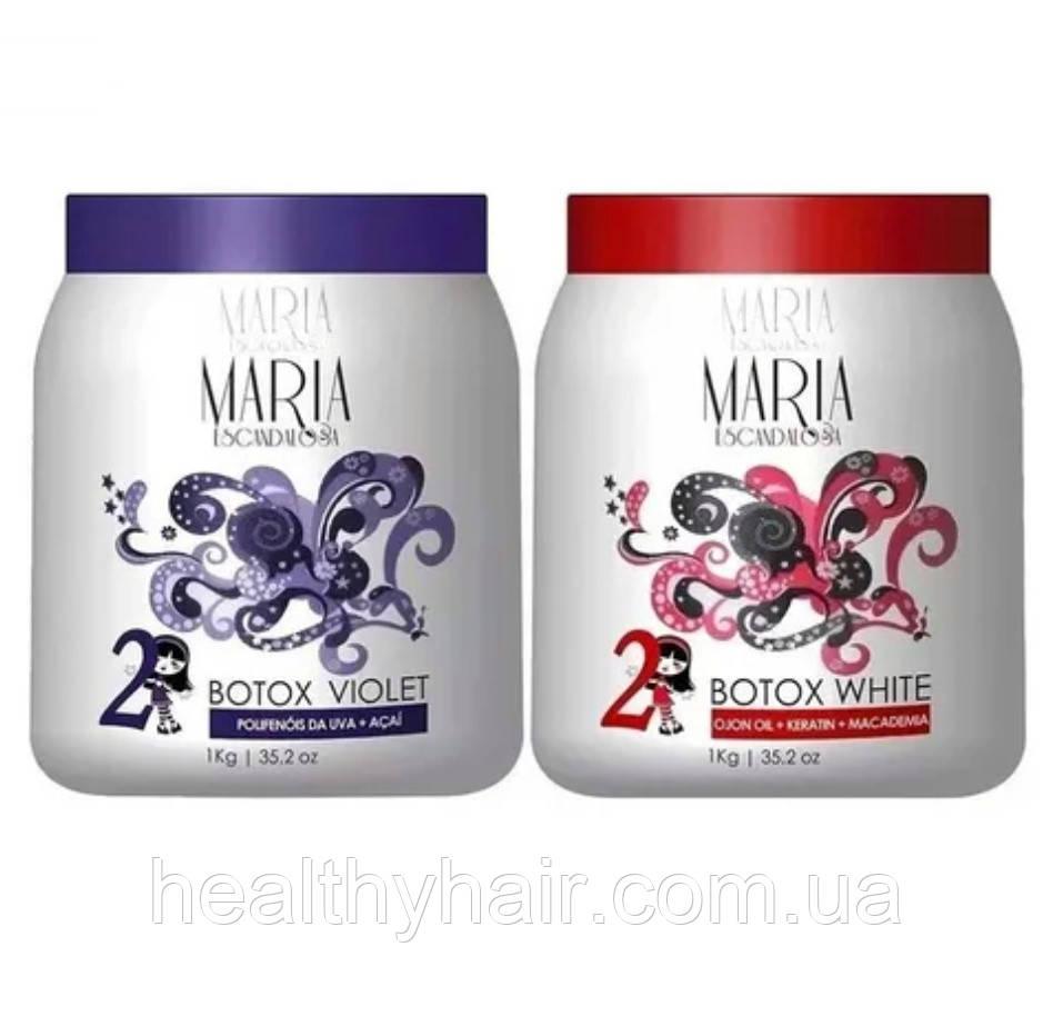 Ботокс для волосся Maria Escandalosa Botox white 1000 г Btx Violet 1000 г