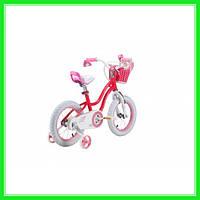 Детский велосипед Royal Baby Stargirl RB16G-1 РОЗОВЫЙ от 4-6 лет