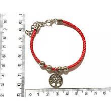 Браслет Червона нитка з підвіскою Древо роду, браслет обереговий