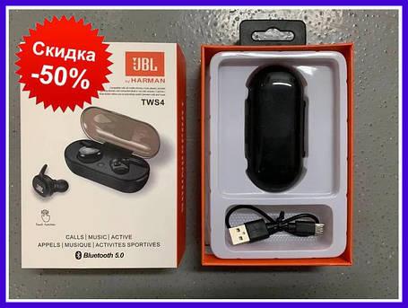 Беспроводные Bluetooth наушники TWS4 Беспроводные наушники jbl tws 4 гарнитура JBL TWS 4 (100), беспроводные, фото 2
