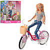 Кукла  с розовым велосипедом Кукла детская Куклы для девочек Игрушечная кукла Кукла подарок, фото 2