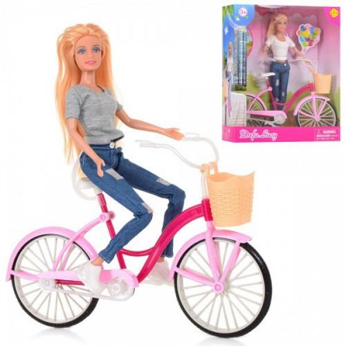 Кукла  с розовым велосипедом Кукла детская Куклы для девочек Игрушечная кукла Кукла подарок