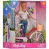 Кукла  с розовым велосипедом Кукла детская Куклы для девочек Игрушечная кукла Кукла подарок, фото 3