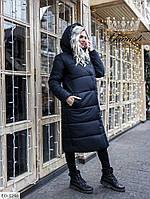 Женская Теплая зимняя Куртка Черная, Хаки, Марсала, фото 1