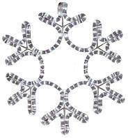 Светодиодная Снежинка 28 см, цвет - теплый белый