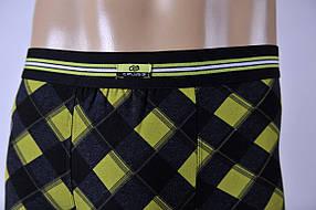 Мужские трусы - боксеры C+3 455 L черный с зеленым, фото 2