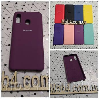 Брендовий чохол накладка Silicone Cover для Samsung Galaxy (Самсунг) А20
