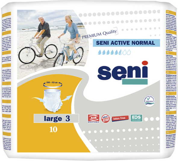 Подгузники-трусики для взрослых Seni Active Normal Large 10 шт (5900516693053)