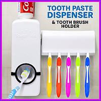 Диспенсер для зубної пасти з тримачем зубних щіток Toothpaste Dispenser
