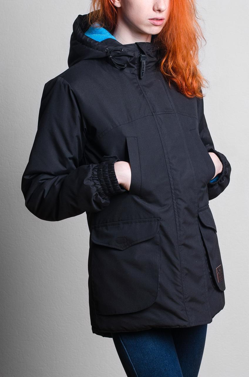 Женская зимняя куртка парка черная Olymp