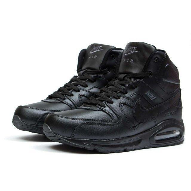 Зимові жіночі та підліткові високі кросівки на хутрі Air Max Command High
