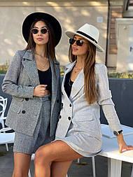 Жіночий твідовий піджак і окремо спідниця твідовий (в кольорах)