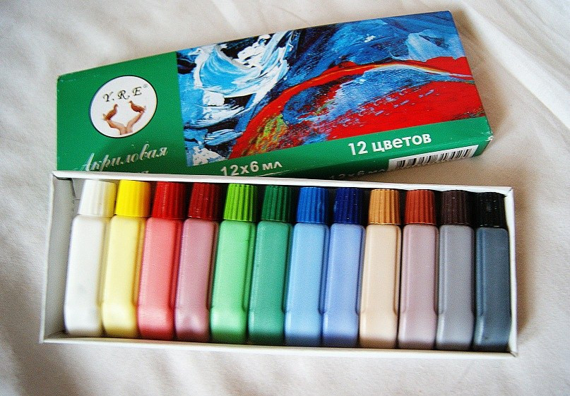 Акрилові фарби YRE 12 шт