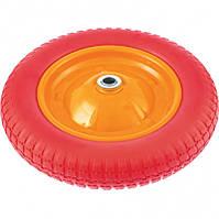 Колесо для тачок, поліуретанове, підшипник 16 мм, 3.00-8, довжина осі 90 мм, PalisaD 689758