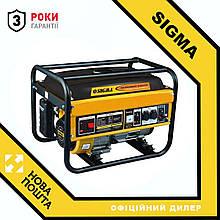 Генератор бензиновий 2.5/2.8 кВт 4-х тактний, ручний запуск Sigma (5710221)