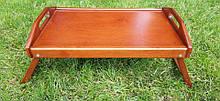 Столик для завтрака деревянный 52×32 см яблоня коричневый 52321