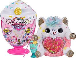 Интерактивная мягкая игрушка Единорог 15 сюрпризов ZURU Rainbocorns Plush Sweet Shake Surprise