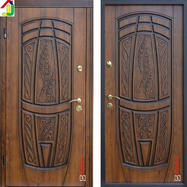 Двері металеві Абвер Classic Massandra 209 Vinorit Золотий Дуб + Патина для вулиці