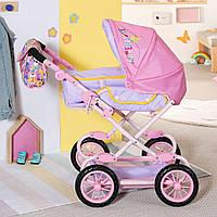 Коляска для куклы пупса складная с сумкой Baby Born Делюкс Pram Zapf Creation 828649