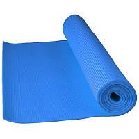 Коврик для йоги и фитнеса 180см Power System Fitness Yoga Mat пилатеса аэробики спортзала Синий Реальные фото