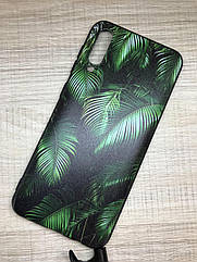 Чехол силиконовый для Samsung A50 2019 (A505F) с растительным принтом