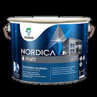 Фасадная краска для дерева Teknos Nordica Matt 9л (Текнос Нордика Мат)