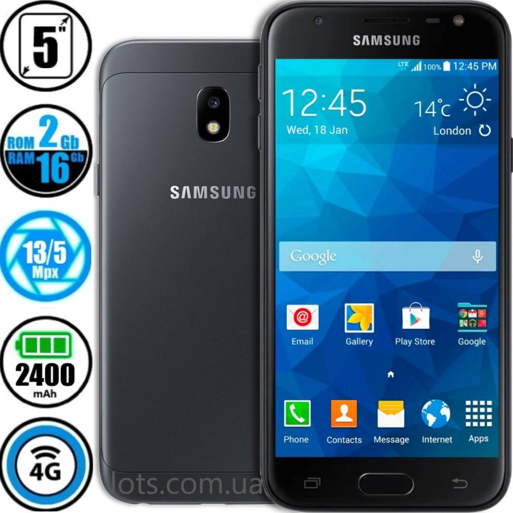 Смартфон Samsung Galaxy J3 J330F (2/16Gb) Black + Подарунок Захисне Скло