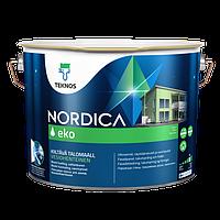 Фасадная краска для дерева Teknos Nordica Eko 9л (Текнос Нордика Эко)
