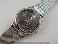 Женские часы Calvin Klein 013518 плетеный браслет серебристые с черным