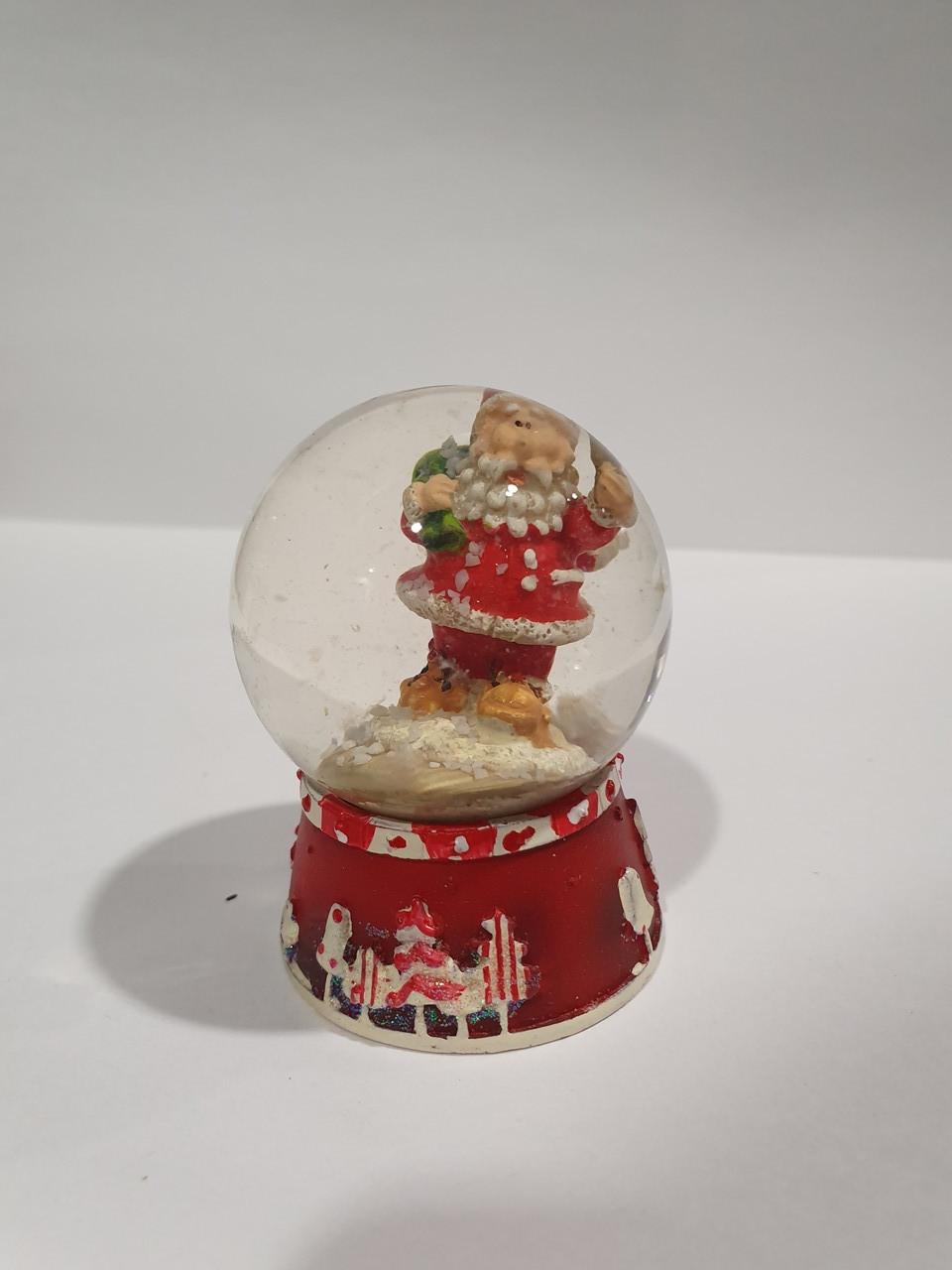 """Стеклянный водный шар """"Санта"""""""