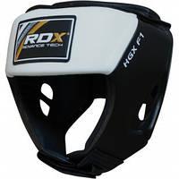 Боксерский шлем RDX White повышенной устойчивости.  Белый