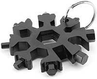 Универсальный инструмент мультитул-снежинка 18 в 1 заменит набор ключей