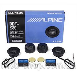 Пищалки (твитеры) Alpine DDT-S30 180W (комплект динамики ВЧ пищалки с кроссоверами)