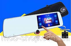 """Зеркало с видео регистратором с ТРЕМЯ камерами DVR CSZ-C33 сенсорный экран 5"""""""