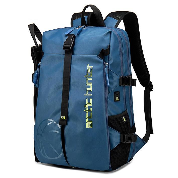 Спортивный рюкзак Arctic Hunter B00391 для баскетбола, два отделения, карманы для мяча и ноутбука, 25л