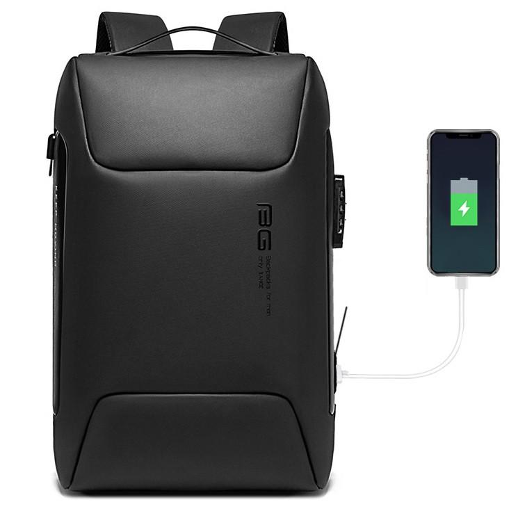 """Дорожный рюкзак Bange BG7216, с USB портом, кодовым замком, для ноутбука до 17"""", 25л"""