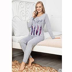 Піжама жіноча бавовняна з штанами Пір'я Seyko Туреччина S-XL L