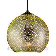 Світильник підвісний 3D-ефект хром круглий QUANTUM Е27
